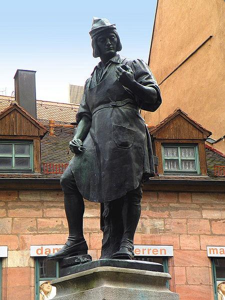 Escultura de Peter Henlein en Núrermberg