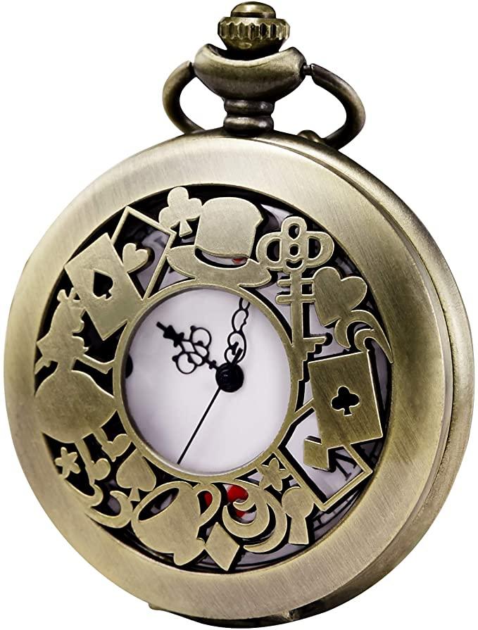 reloj de bolsillo de alicia en el pais de las  maravillas