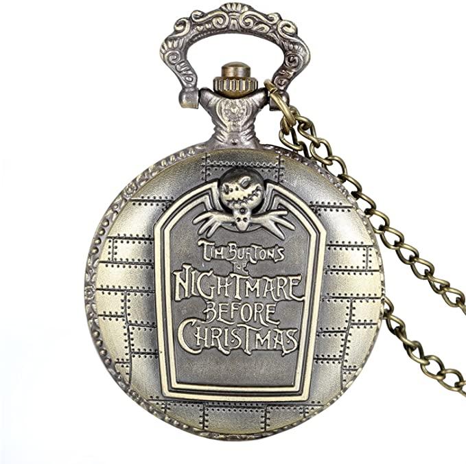 reloj de bolsillo de pesadilla antes de navidad