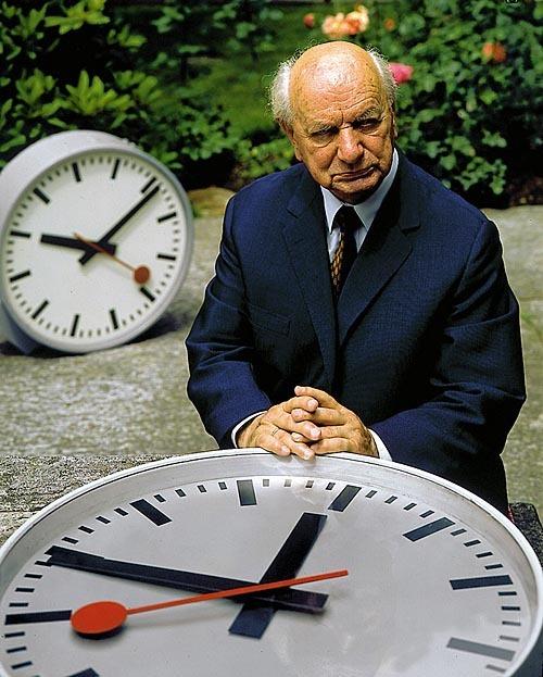 diseñador suizo del reloj de la SBB