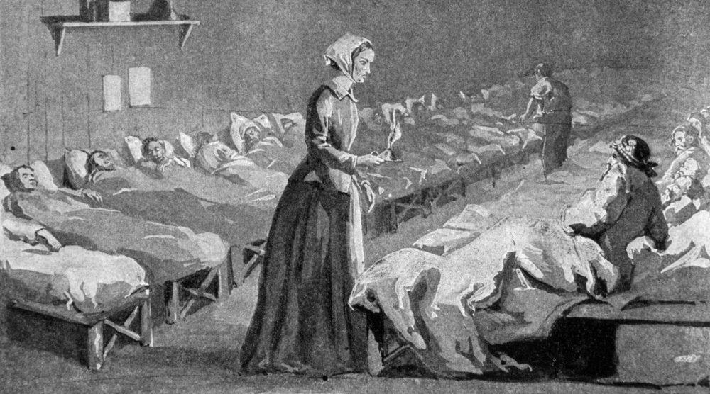 Florence Nightingale en una enfermería