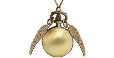 reloj de bolsillo snitch dorado de harry potter