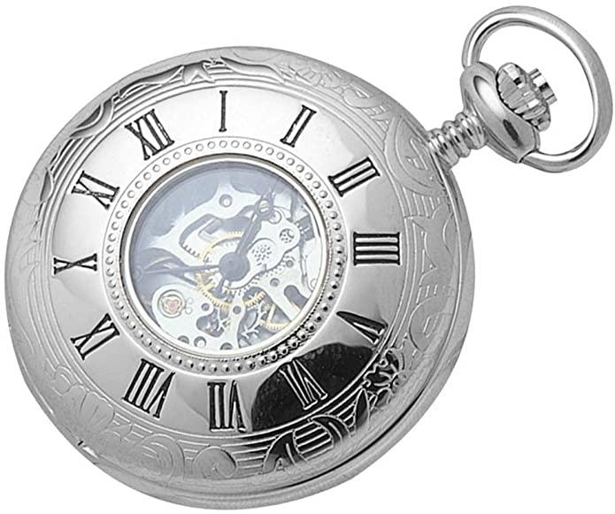 reloj de bolsillo con doble tapa y ventanilla